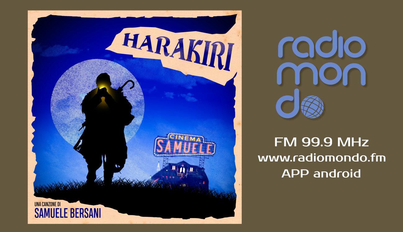 "Samuele Bersani torna in radio con ""Harakiri"" primo singolo del nuovo album ""Cinema Samuele"""