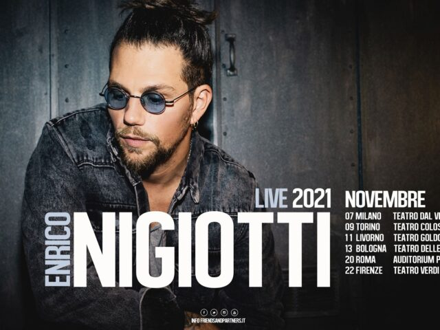 Enrico Nigiotti, rinviato in autunno il Tour Teatrale 2021